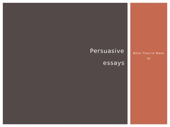 Introduction to Persuasive Essays - STAAR Friendly