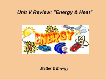 "Introduction to Physics ActivInspire Unit V Review ""Energy"