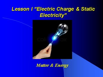 "Introduction to Physics Lesson I PowerPoint ""Electric Char"