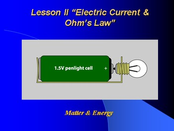 """Introduction to Physics Lesson II PowerPoint """"Electric Cur"""