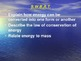 """Introduction to Physics Lesson II PowerPoint """"Energy Conve"""