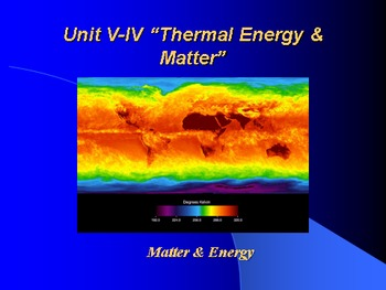 "Introduction to Physics Lesson IV PowerPoint ""Thermal Ener"