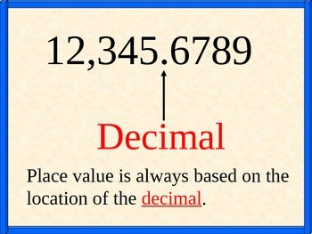 Introduction to Place Value using  PowerPoint and a Handout