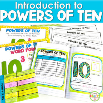 Introduction to Powers of Ten - Interactive Notebook Activ