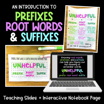 Introduction to Prefixes, Root Words, and Suffixes