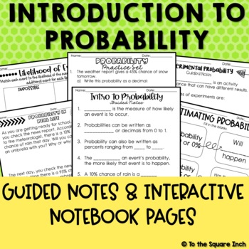 Probability Notes and Activities