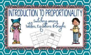 Introduction to Proportionality: Switching among Tables, E