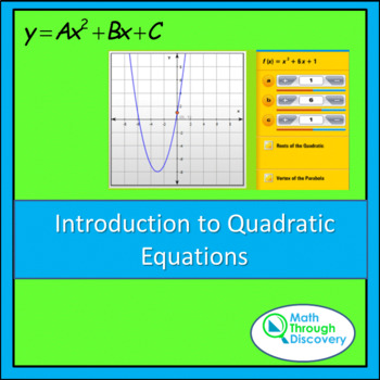 Introduction to Quadratic Equations - A and B - Parabolic