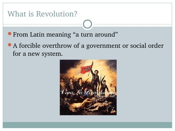 Introduction to Revolution and Protest - Lesson, PowerPoin