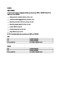 Introduction to SER and ESTAR Worksheet