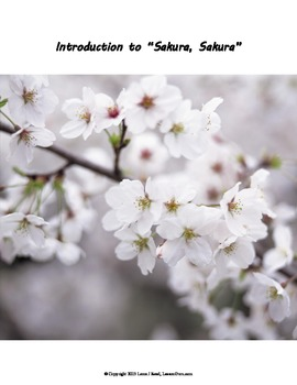 Introduction to Sakura Lesson and Worksheet