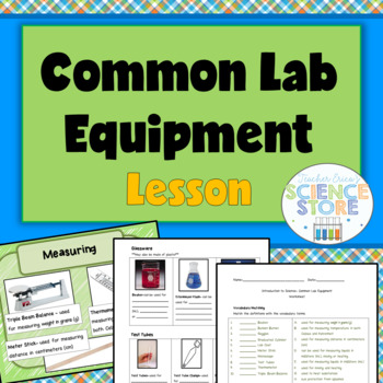 Introduction to Science-Common Lab Equipment PowerPoint and Notes