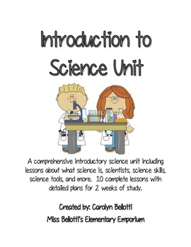 Introduction to Science Unit--Graphic Organizers, Lesson P