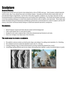 Introduction to Sculpture Handout