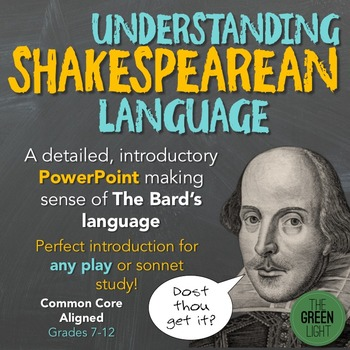 Introduction to Shakespearean Language PowerPoint