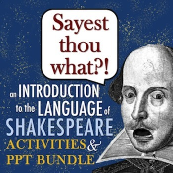 Introduction to Shakespeare's Language VALUE BUNDLE: Fun A