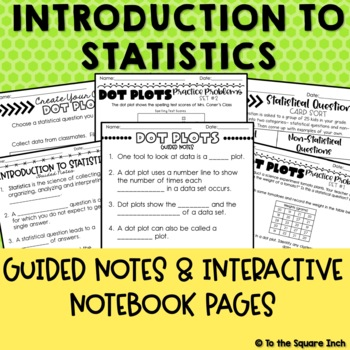 Introduction to Statistics Interactive Notebook Pages