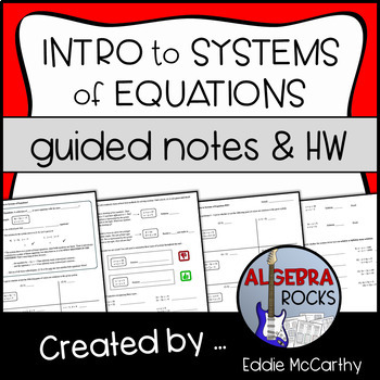 Introduction to Systems of Equations (Guided Notes and Ass