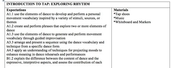 Introduction to Tap Dance