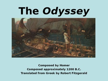 Introduction to The Odyssey - Teacher and Student Version