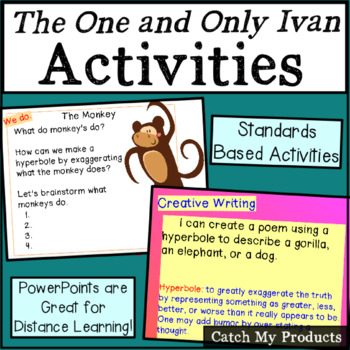 The One and Only Ivan Novel Beginning Activities & Writing