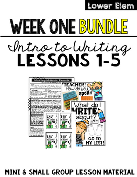 Introduction to Writing: Lessons 1-5