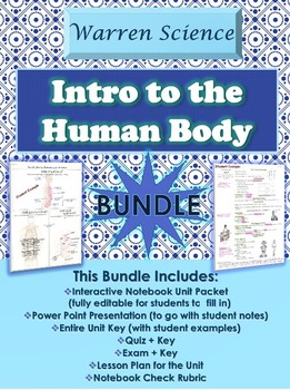 Introduction to the Human Body Unit *BUNDLE* (Unit 1 in Series)
