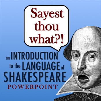 Introduction to the Language of Shakespeare PowerPoint: Bu