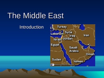 Introduction to the Middle East: Part One
