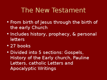 Introduction to the New Testament Power Point