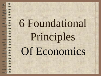 Introduction to the Principles of Economics