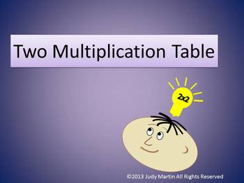 Introduction to the Two Multiplication Table