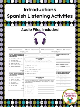 Introductions Spanish Listening Activities
