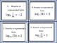 Introductory Logarithmic Task Cards with Student  Answer Sheets