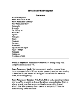 Invasion of the Polygons! A Reader's Theater Script