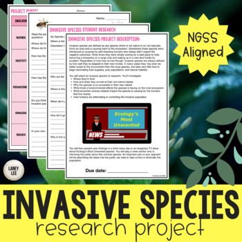 Invasive Species Ecosystems Project - Inquiry Based!