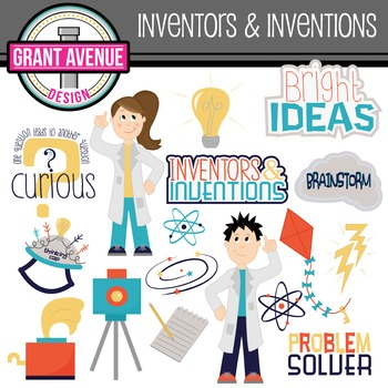 Inventor Clipart - Invention Clipart - Science Clipart