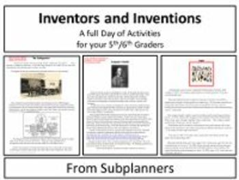 Inventors and Inventions - A Common Core Aligned Full Day