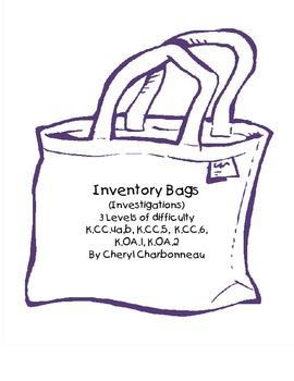 Inventory Bags (Investigations) K.CC.4a, b, K.CC.5, K.CC.6