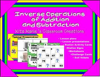 Inverse Operation of Addition and Subtraction  – Lesson Pl