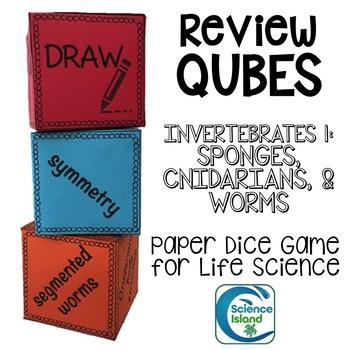 Invertebrates 1: Sponges, Cnidarians & Worms Review Qubes