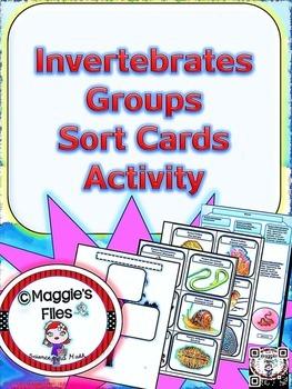 Invertebrates Groups Sorting Card Activity