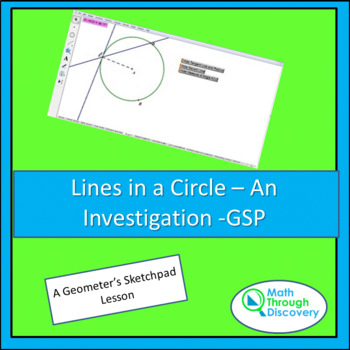 Geometry:  Lines in a Circle - An Investigation - GSP