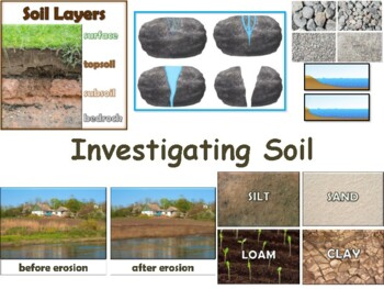 Investigating Soil Flashcards - task cards, study guide, s