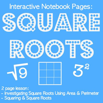 Investigating Square Roots & Squaring Lesson & Interactive