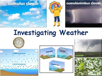Investigating Weather Lesson & Flashcards-classroom unit,