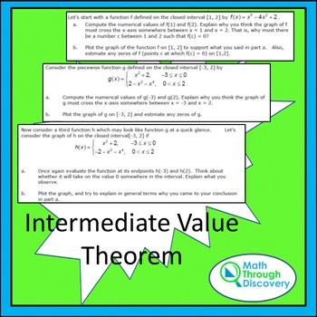 Intermediate Value Theorem - An Investigation