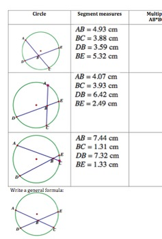 Investigation of Angle and Segment Relationships in Circles