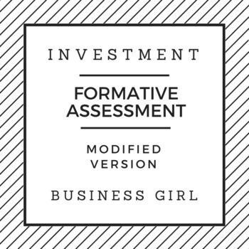 Investment Formative Assessment (Modified Version)