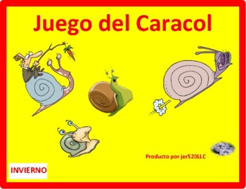 Invierno (Winter in Spanish) Caracol Snail game